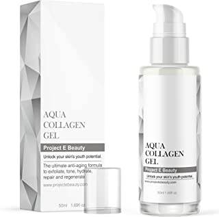 Project E Beauty Aqua Collagen Gel | Brightening Moisture Treatment Ultra Facial Moisture Gel Lightweight Texture and Supe...