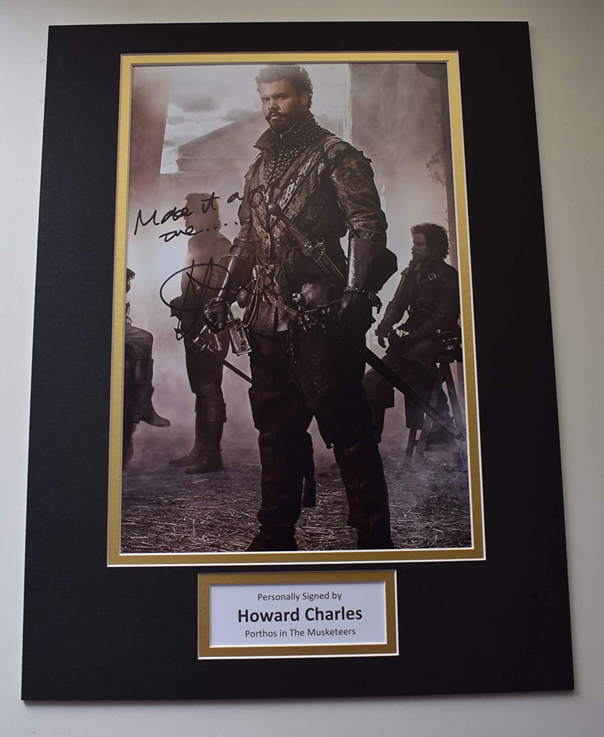 Sportagraphs LTD Howard Charles Signed autograph 16x12 photo display The Musketeers AFTAL COA