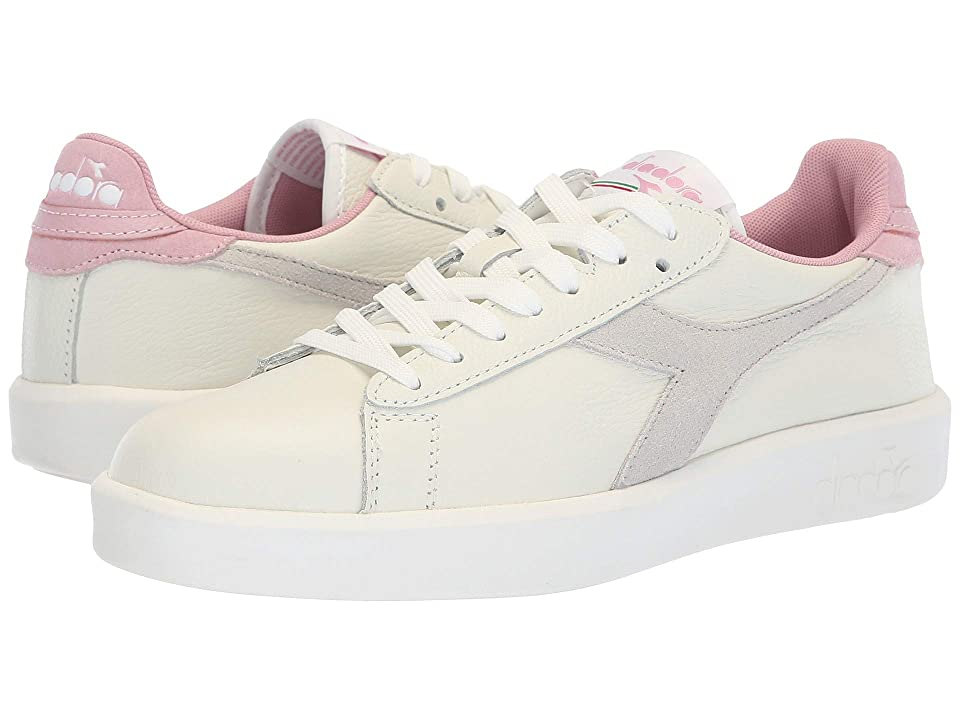 Diadora Game Wide L (White/Cameo Pink) Women