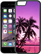 [TeleSkins] - Tropical Palm Trees Sunset Beach - Rubber TPU Case For iPhone 6 Plus / 6S Plus - Ultra Durable Slim Fit, Protective Plastic with Soft RUBBER TPU Snap On Back Case / Cover for Girls.
