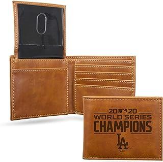 "Rico 2020 Los Angeles ""LA"" Dodgers World Champions Laser Engraved Billfold Wallet - Brown"