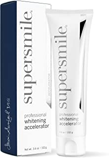 Supersmile Professional Whitening Accelerator - Enamel- Safe Teeth Whitening Gel - Effectively & Painlessly Lifts Deep-Set Stains without Sensitivity