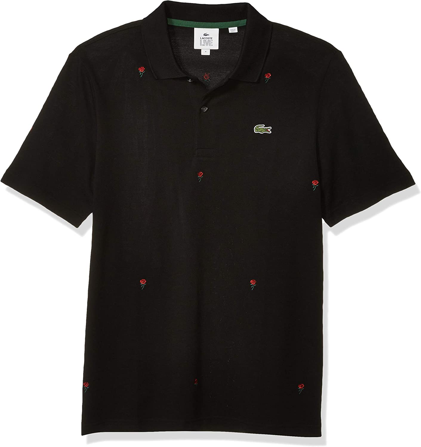 Lacoste Mens Long Sleeve Lve Printed Polo Inspired Sweater
