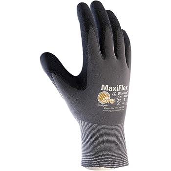 PIP 34-8014 Maxiflex Ultimate Nitrile Coated Micro-Foam Grip Nylon Glove Size Large 12 Pairs