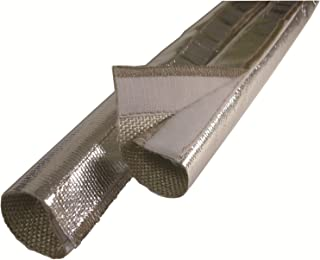 Design Engineering 010420 Heat Sheath Aluminized Sleeving for Ultimate Heat Protection 1.5 x 3