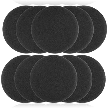 "On-Ear Cushions 50mm 2"" Foam Ear Pads Headphone Headset Disposable Covers, Round (5 Pairs) Pack of 10"