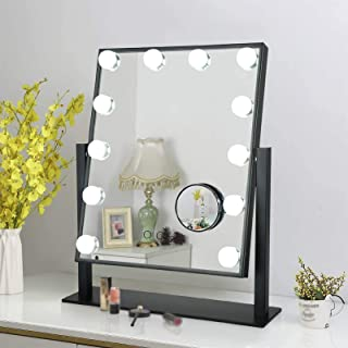 Hollywood Mirror Makeup Vanity Mirror with Lights, Makeup Mirror Vanity Mirror with Lights 3 Color Lighting Modes, 10x Mag...