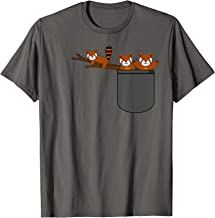 Red Panda Bear Playing In Pocket Cool Unique Shirt Gift