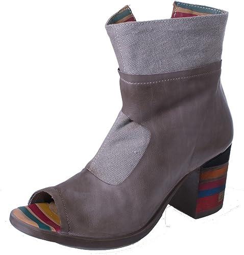 Papucei Damen Sandale Offene Stiefelette Elisa Beige Beige Beige  Wir bieten verschiedene berühmte Marke