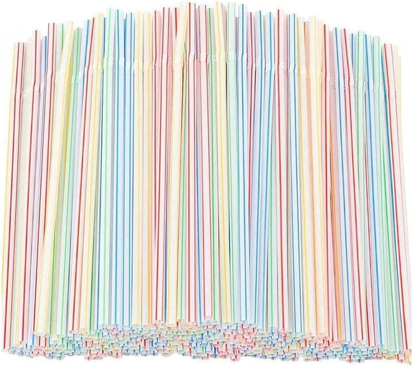 Regular dealer Admgk 600Pcs half Disposable Drinking Plastic Straws 8.2''Hig