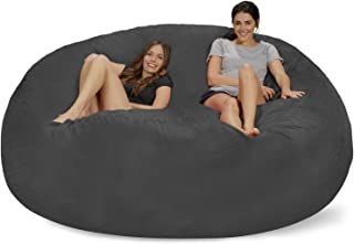 Chill Sack Chill Bag - Bean Bags Bean Bag Chair: Giant Memory Foam Furniture Bean Bag - Big Sofa with Soft Micro Fiber Cover, 8', Charcoal