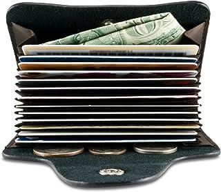 Credit Business Card ID Sleeve Holder Case Wallet Purse Money Pouch 15 Slot Organizer Pocket (Black)