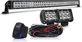 50 inch LED Light Bar TURBOSII 288W Flood Spot Combo Off Road Lights Led Work Light Bar + 4