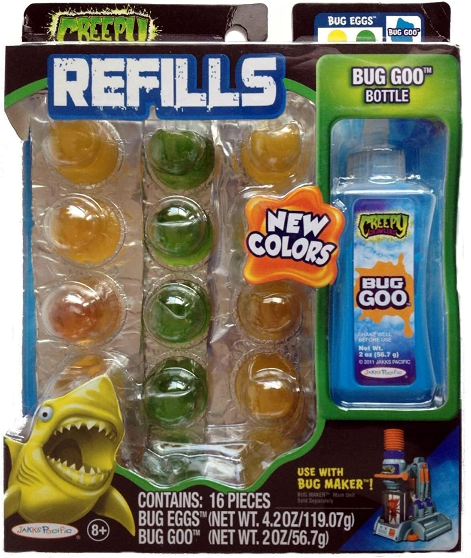 Creepy Crawlers Bug Refills Assortment 5,bluee Goo