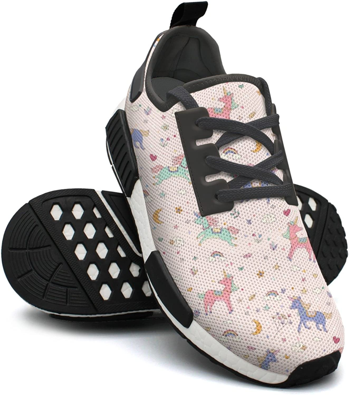 Pink Unicorn Cartoon Star Rainbow Gym Womens Running shoes NMD