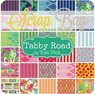 Free Spirit Tabby Road Scrap Bag (approx 2 yards) by Tula Pink DIY quilt fabric