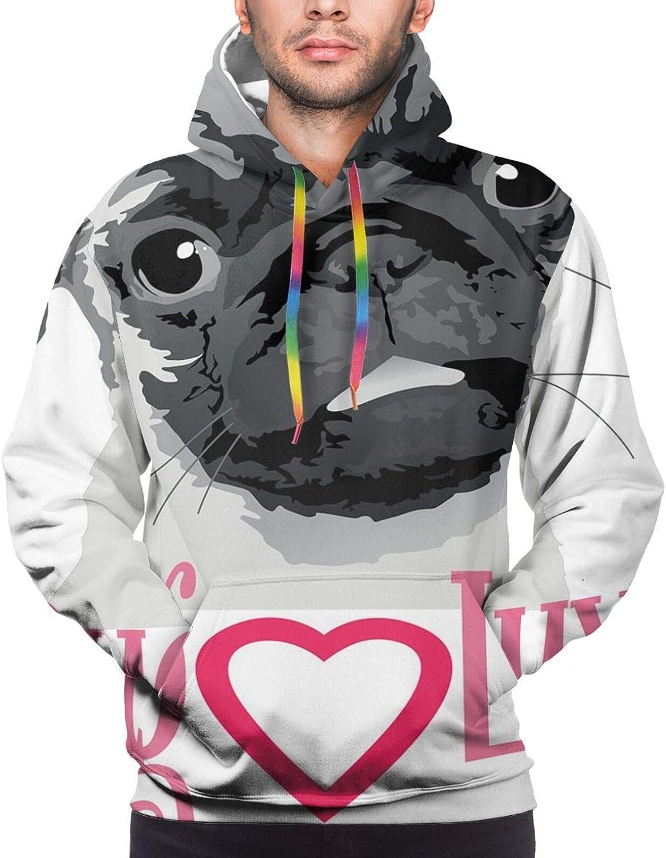 Men's Hoodies Sweatshirts,Puffy Balls Inspired Floating Cumulus Formation Cartoon Design