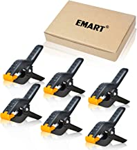 Emart Heavy Duty Muslin Spring Clamps, 4.5 inch Photo Booth Backdrop Clips for Photography Studio - 6 Pack
