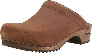 Sanita Christian Mule Clog | Original Handmade Wooden Leather Clog for Men