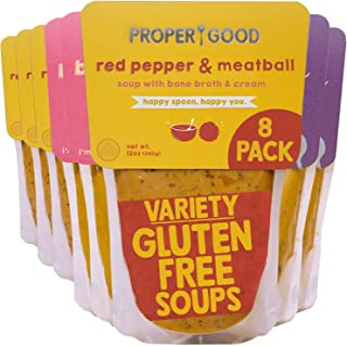 Sponsored Ad - Gluten Free Soup Variety by Proper Good, Chicken & Mushroom, Red Pepper Meatball, Butternut Squash, Hearty,...