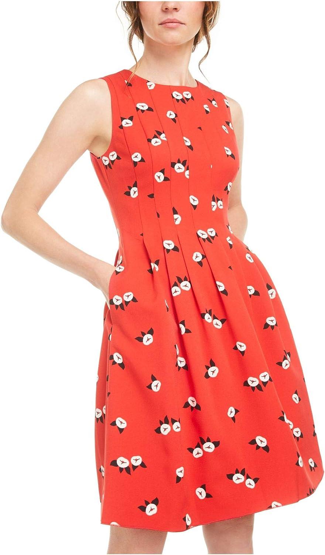 Anne Klein Women's Crepe Seamed Fit & Flare Dress