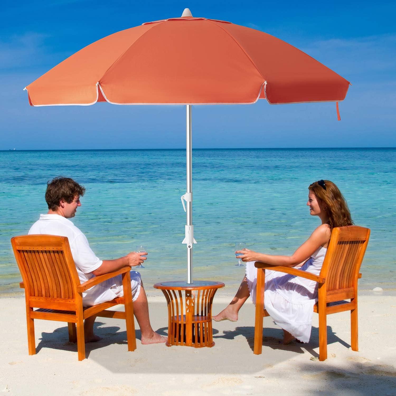 MEWAY まとめ買い特価 7.5ft Beach Umbrella with Anchor Po Tilt 送料無料 激安 お買い得 キ゛フト Mechanism Sand