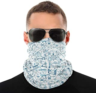 Lsjuee Half Bandanas Variety Head Scarf Neck Warme Neck Gaiter Scarf Physics Themed Drawing A Pattern Of Formulas Related ...