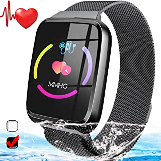 Fitness Tracker with Heart Rate Monitor - Smart Watch Activity Tracker for Women Men Waterproof Smart Fitness Bracelet with SMS Blood Pressure Monitor Pedometer Sport Smart Watch for Teen Girls Boys