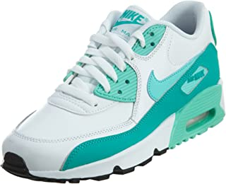 promo code 693f8 e3438 Nike Air Max 90 Letter Big Kids Style Shoes   833376, White Hyper Turquoise