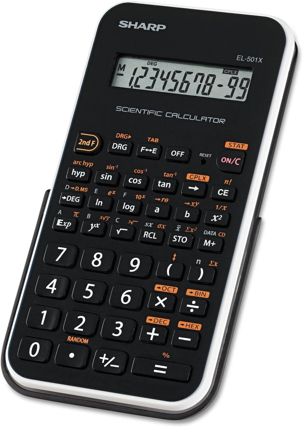SHARP Ranking TOP10 EL501XBWH EL-501XBWH Scientific LCD 10-Digit Calculator Los Angeles Mall