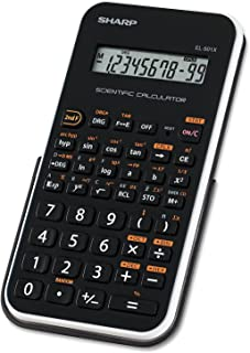 Sharp EL501XBWH EL-501XBWH Scientific Calculator 10-Digit LCD