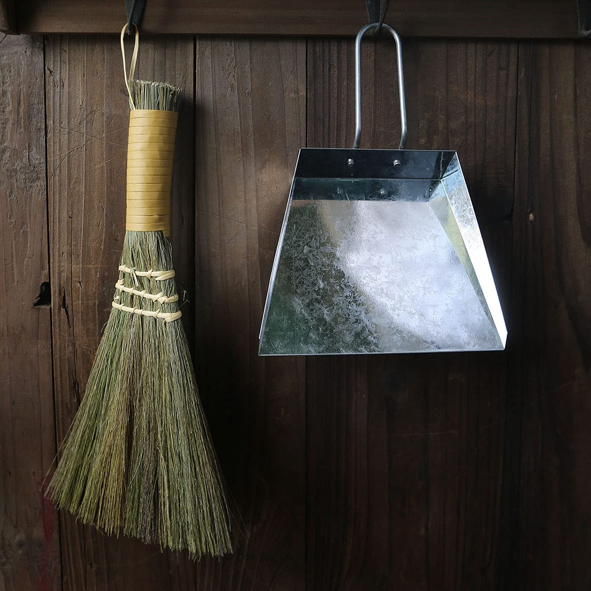 Mini Desktop New products world's highest quality popular Broom Garbage Shovel Clean Max 52% OFF Brown Miscanthus Natural