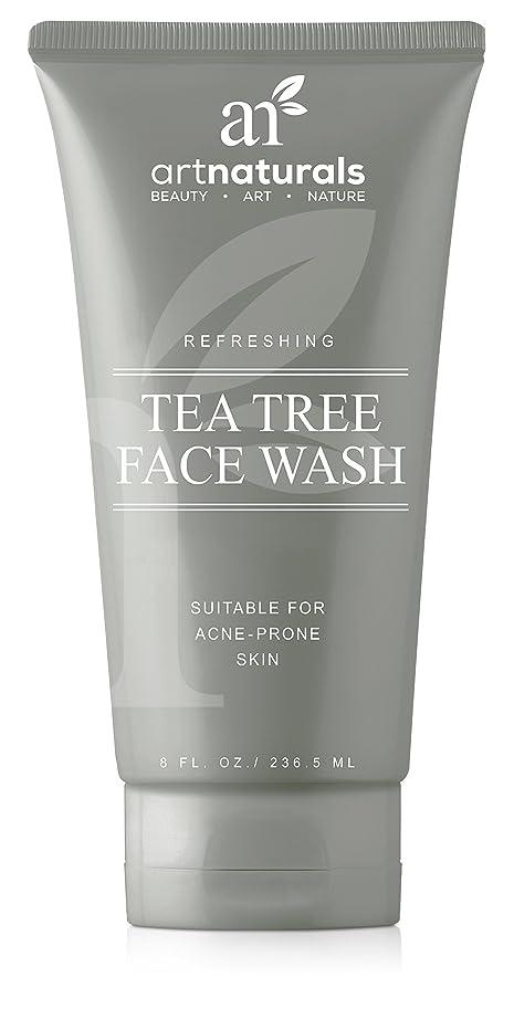 ライバルセグメント天井ArtNaturals Tea Tree Face Wash - (8 Fl Oz/236ml) - Helps Heal and Prevent Breakouts, Acne and Skin Irritation - Green Tea, 100% Pure Tea Tree Essential Oil, and Aloe Vera