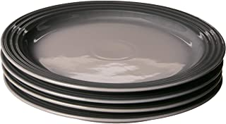 """Le Creuset Stoneware Set of 4 Dinner Plates, 10.5"""" each, Oyster"""