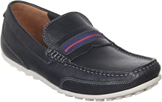 Clarks Men's Hamilton Drive Navy Leather Casual Shoes