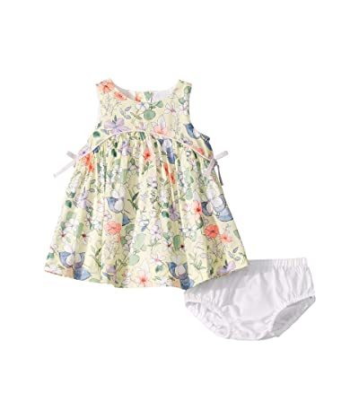 Janie and Jack Floral Bow Dress (Infant) (Yellow Multi Floral) Girl