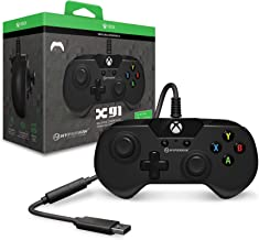 Hyperkin X91 Wired Controller for Xbox One/ Windows 10 PC (Black) - Officially Licensed by Xbox