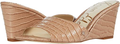 Toasted Almond Kenya Large Croco Leather