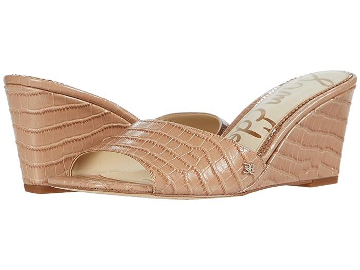 Sam Edelman  Tesma (Toasted Almond Kenya Large Croco Leather) Womens Shoes