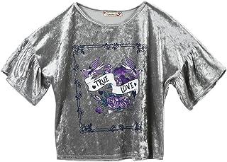 Speechless Big Girls' Velvet Drop Shoulder T-Shirt