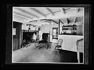 Vintography 8 x 10 Ready to Frame Pro Photo of Interior Colonial-Style Kitchen with Firearms 1920 Detriot Publishing 39a