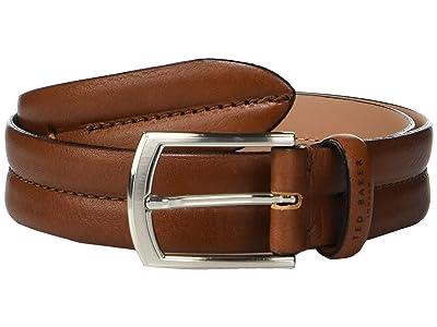 Ted Baker Benn Stitched Leather Belt (Tan) Men