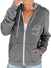 Clement Attlee Womens Hoodie Full Zip Long Sleeve Lightweight Sweatshirts Pockets Jacket Coat