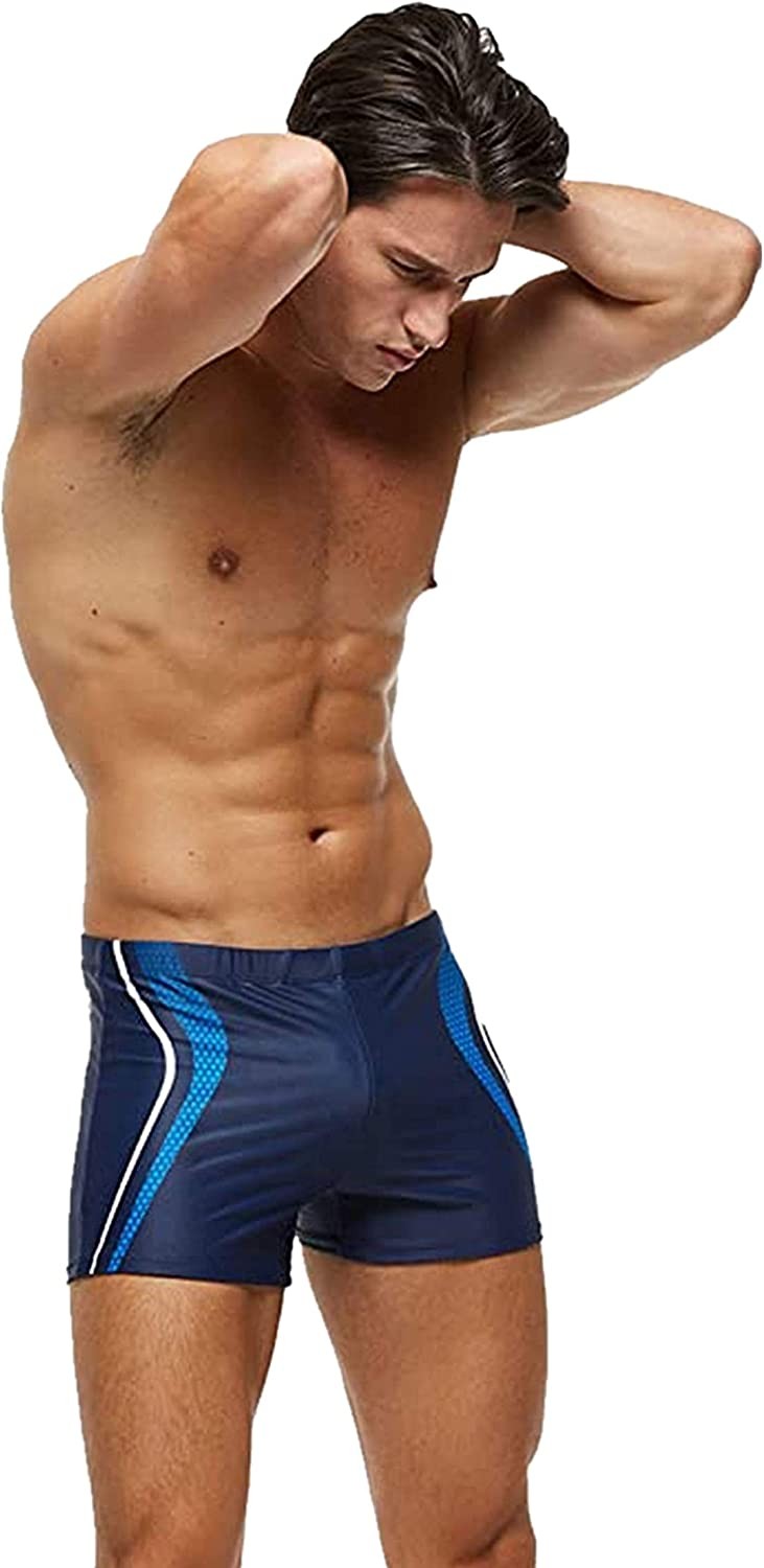 AceAcr Mens Printed Swimming Boxer Shorts with Removeable Pad Swimwear