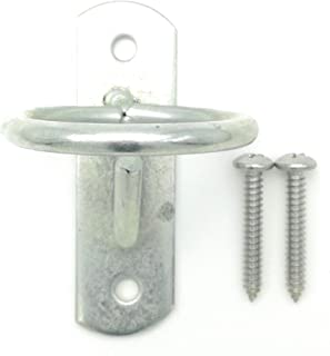 Will's Family Store Stable and Barn Bucket Hook Hanger with 2 inch Tie Ring for Playful Horse or Livestock