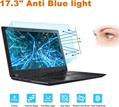 """FORITO 17.3"""" Laptop Anti Blue Light Anti Glare Screen Protector, 2-Pack Eye Protection Blue Light Blocking Screen Protector for 17.3"""" with 16:9 Aspect Ratio Laptop Screen(Size: 15"""