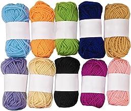 qinger bow 10 colores hilo de tejer conjunto 100% acrílico para diferentes proyectos de arte