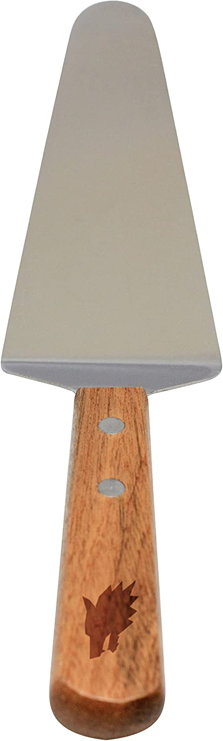 Wolf Stainless Steel Pie Max Award-winning store 87% OFF Server - Cake Wood With Cutter Engraved