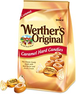 WERTHER'S ORIGINAL Sugar Free Caramel Hard Candy, Individually Wrapped Low Carb Candy, 34 Ounce (Pack of 2)