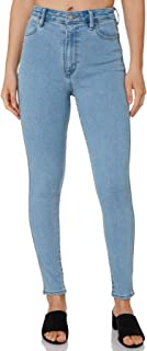 Riders By Lee Women's Womens Hi Rider Jean Cotton Fitted Elastane Blue